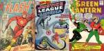 La couverture du tandem Infantino & Anderson pour Flash n° 200, la couverture de The Brave and the Bold n° 28 (mars 1960) de Sekowsky & Anderson, avec le premier épisode de la « Justice League of America », couverture de Green Lantern n° 40.