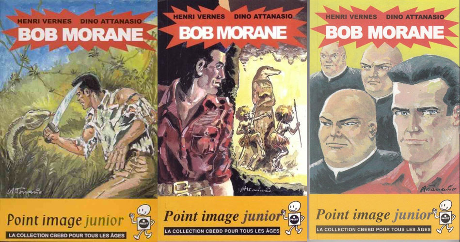 Toutes les illustrations en noir et blanc de Dino Attanasio réalisées pour les Marabout junior ont été compilées dans trois petits opus aux éditions Point image, en 2002 et 2003.