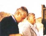 Jean-Claude guilbert et Hugo Pratt en Pays Afar, en 1987.
