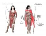 Etude du costume de Kriss, dans la continuité du tome 5 précédent.