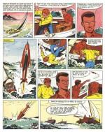 Première page de « Bob Morane et l'Oiseau de feu », version album.