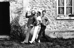 Jean Solé, Marcel Gotlib et Jacques Lob en 1982, chez Jean Solé.