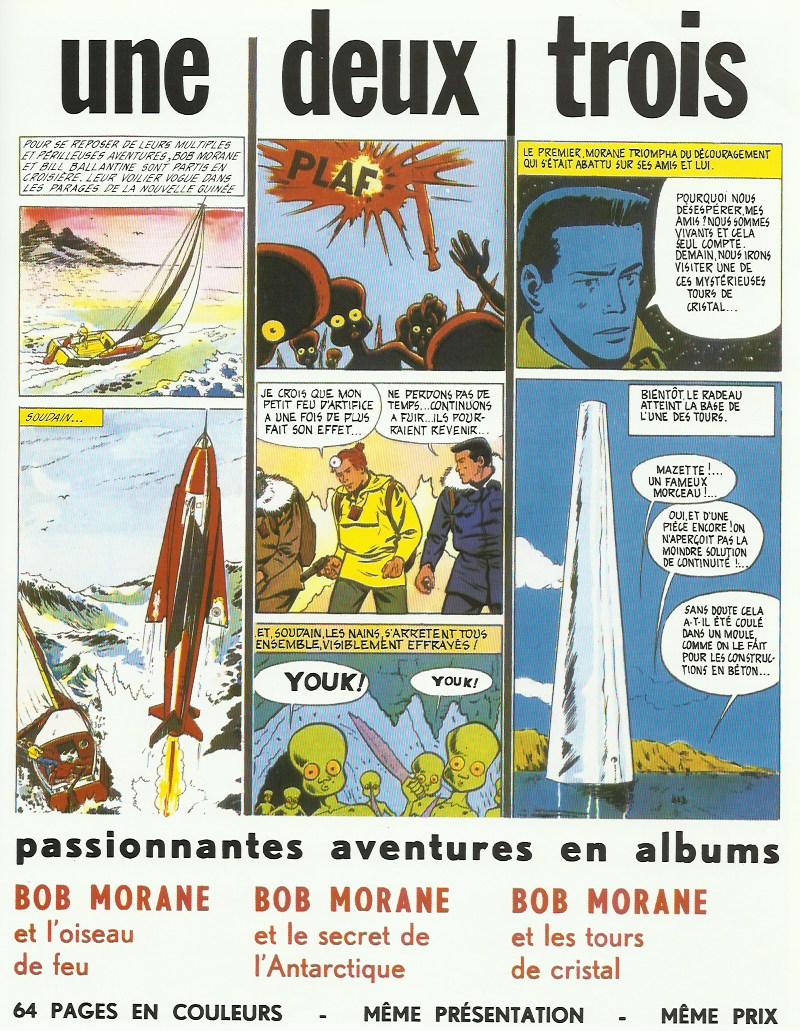 Page publicitaire publiée page 59 de l'album « Bob Morane et le collier de Civa », aux éditions Marabout, en 1963.