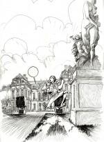 Encrage par Y. Corboz pour la planche 5 du tome 1