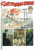 Projet d'Hugo Pratt et de Jean-Claude Guilbert : maquette pour la reprise du magazine Corto Maltese en France, en 1991.