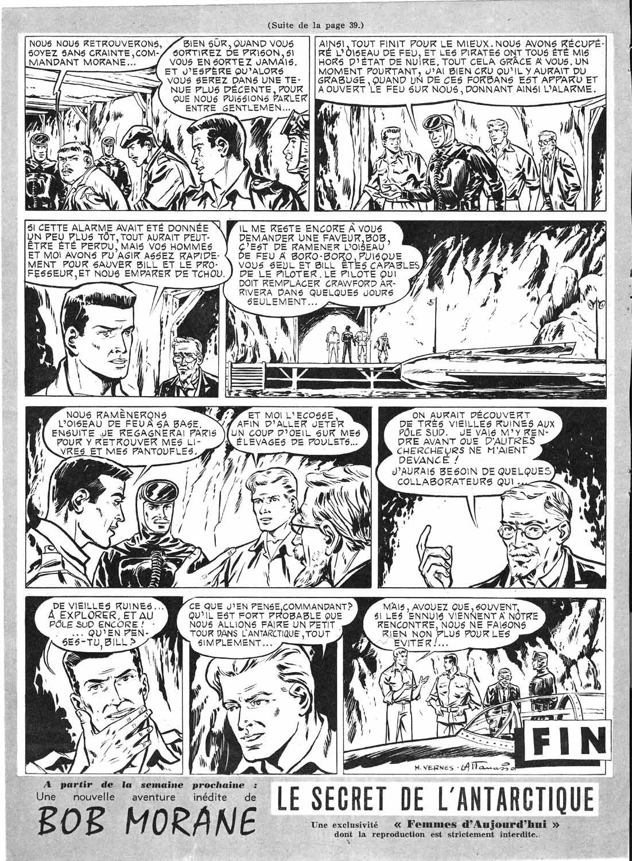 Une autre page de « Bob Morane et l'Oiseau de feu » dans Femmes d'aujourd'hui.