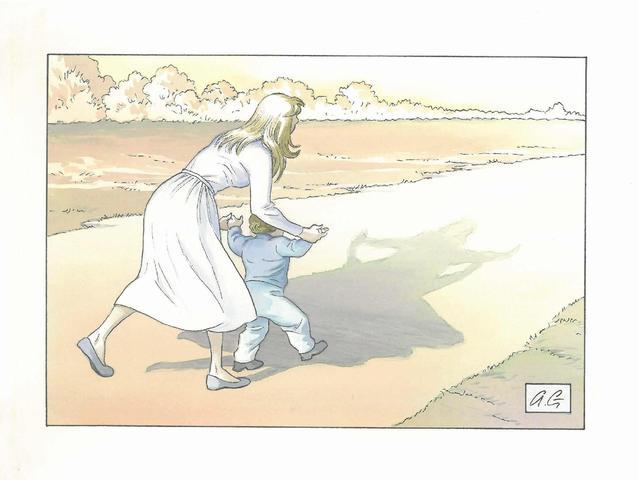 Dessin pour le quotidien La Croix des 22 et 23 décembre 2012.