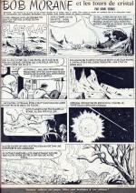 Une page de « Bob Morane et les tours de cristal » dans Femmes d'aujourd'hui.