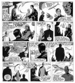 Quand Bond et Honey rencontrent le docteur No... (encrage original par J. McLusky)