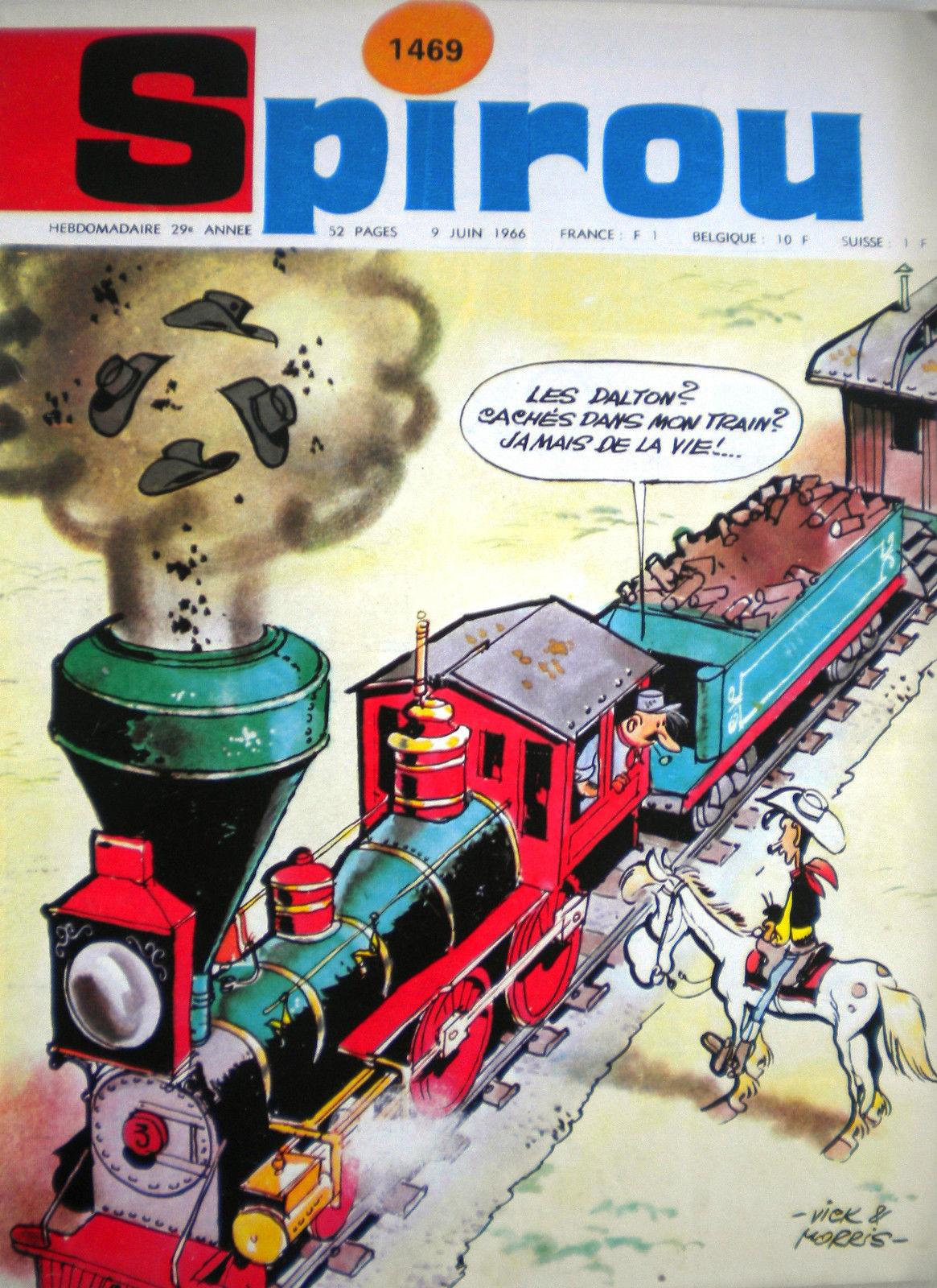 """Autre exemple avec le journal de Spirou n° 1469 (9 juin 1966) prépubliant """"Tortillas pour les Dalton"""""""