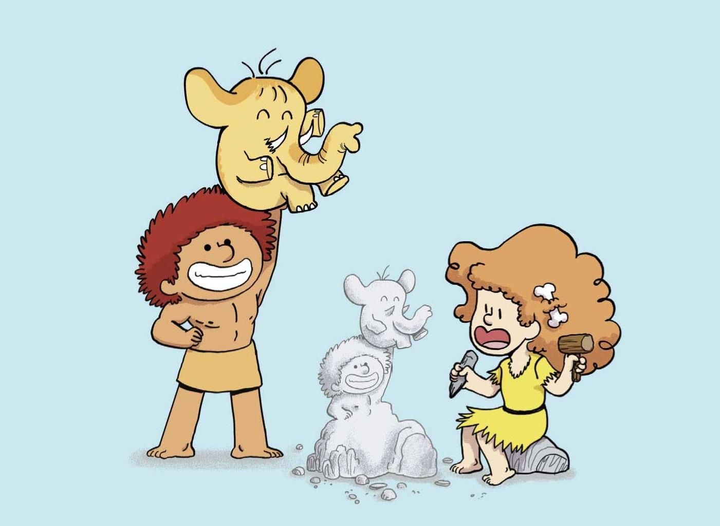 Balez  & Malina et le bébé mammouth
