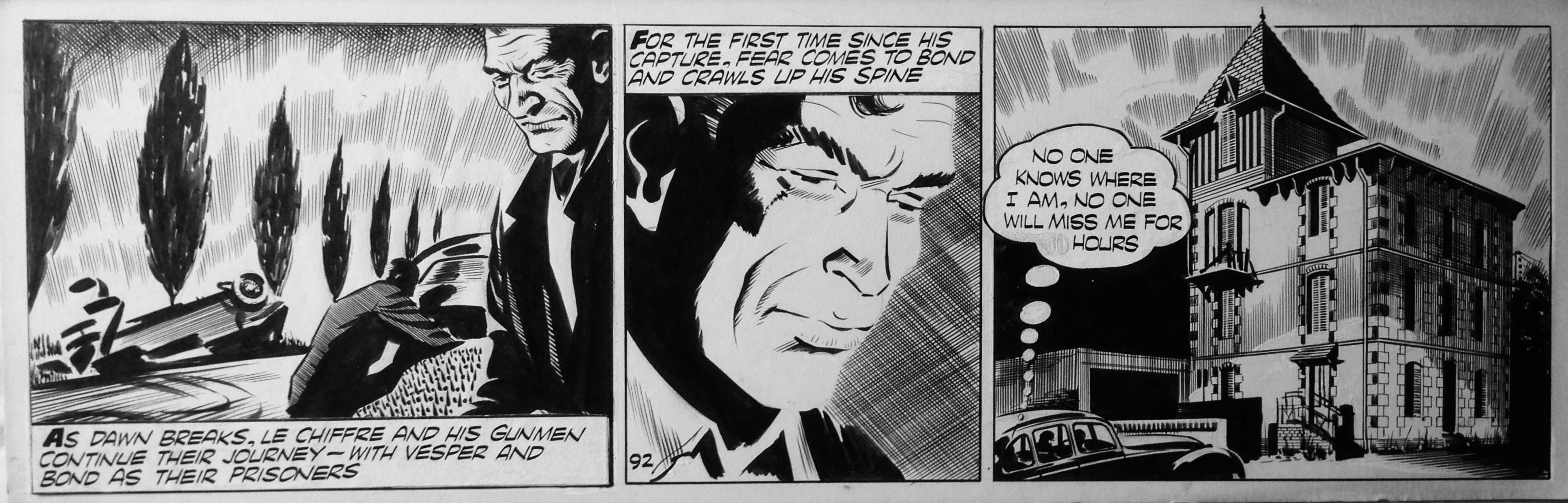 Strip original n° 92 pour Casino Royale (dessin de McLusky - octobre 1958)