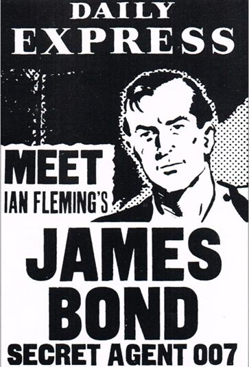 Première publicité annonçant le lancement de la série dans le Daily Express en juillet 1958.