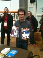 Jean Depelley et sa monumentale biographie de Jack Kirby en deux tomes, récompensé au SoBD.