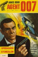 """La 1er numéro produit par Semic en Suède (""""Goldfinger"""") et au Danemark (""""Casino Royale"""") en 1965 ; couvertures par Jordi Penalva."""