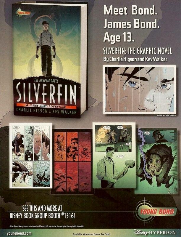 Publicités anglaises pour SilverFin et couverture de l'édition Casterman