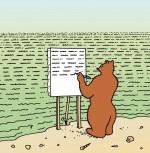 L'ours Barnabé peint