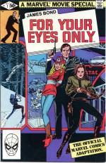 Rien que pour vos yeux : couvertures US et française, et page 2 originale (Marvel Comics, 1981)