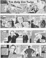 """""""On ne vit que deux fois"""" sera la dernière aventure adaptée par Gammidge et McLusky pour le Daily Express, à partir du 17 mai 1965."""