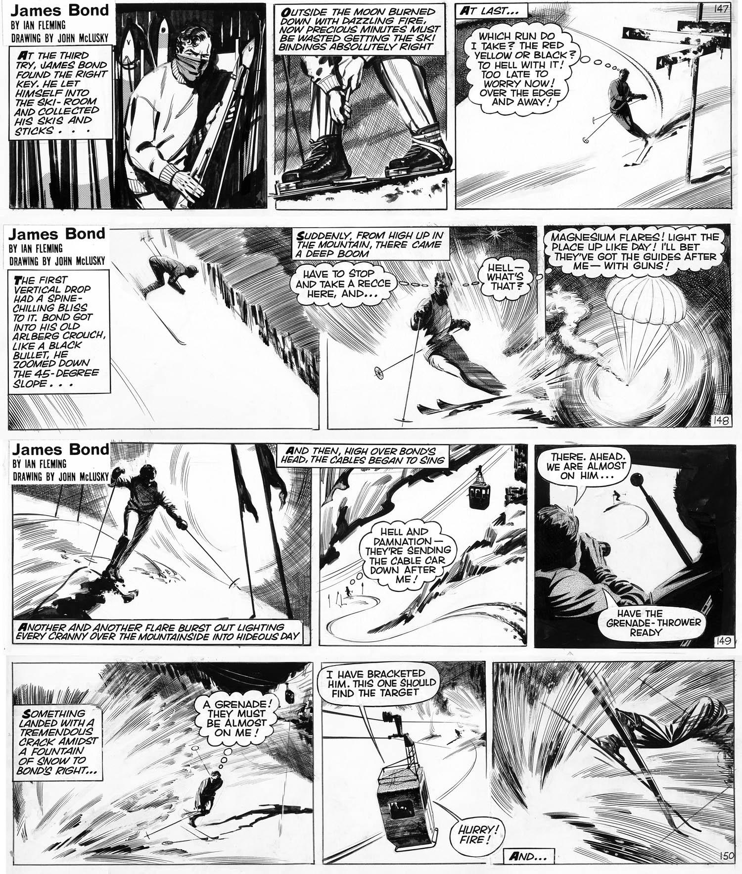 """Extrait de """"Au Service Secret de Sa Majesté"""" par H. Gammidge et J. McLusky (nov. 1964)"""