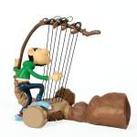 Gaston et le Gaffophone (résine Leblon-Delienne  - 32 cm - 1998)