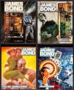 Couvertures - non dessinées par McLusky ! - pour les volumes de la première anthologie Titan Books (1987 à 1990).