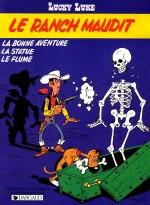 """Avec """"Le Ranch maudit"""" (1986), Lucky Luke a depuis 3 ans abandonné définitivement sa cigarette... et arrêter de jouer avec la Mort !"""