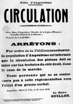 Avis à la population affiché le 31 août 1940