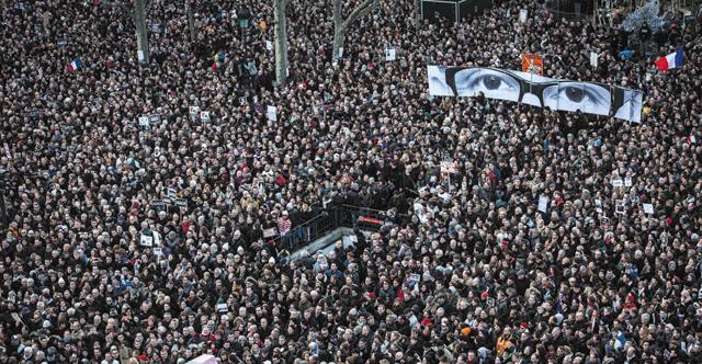 Le 11 janvier à Paris, et en une de Libération (12 janvier 2015)