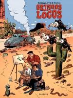 """Jijé, Morris et Franquin dans """"Gringos Locos"""" par Yann et Schwartz (Dupuis - mai 2012)"""