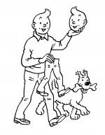 Dédicace d'Hergé datée de 1977, vendue en 2015.
