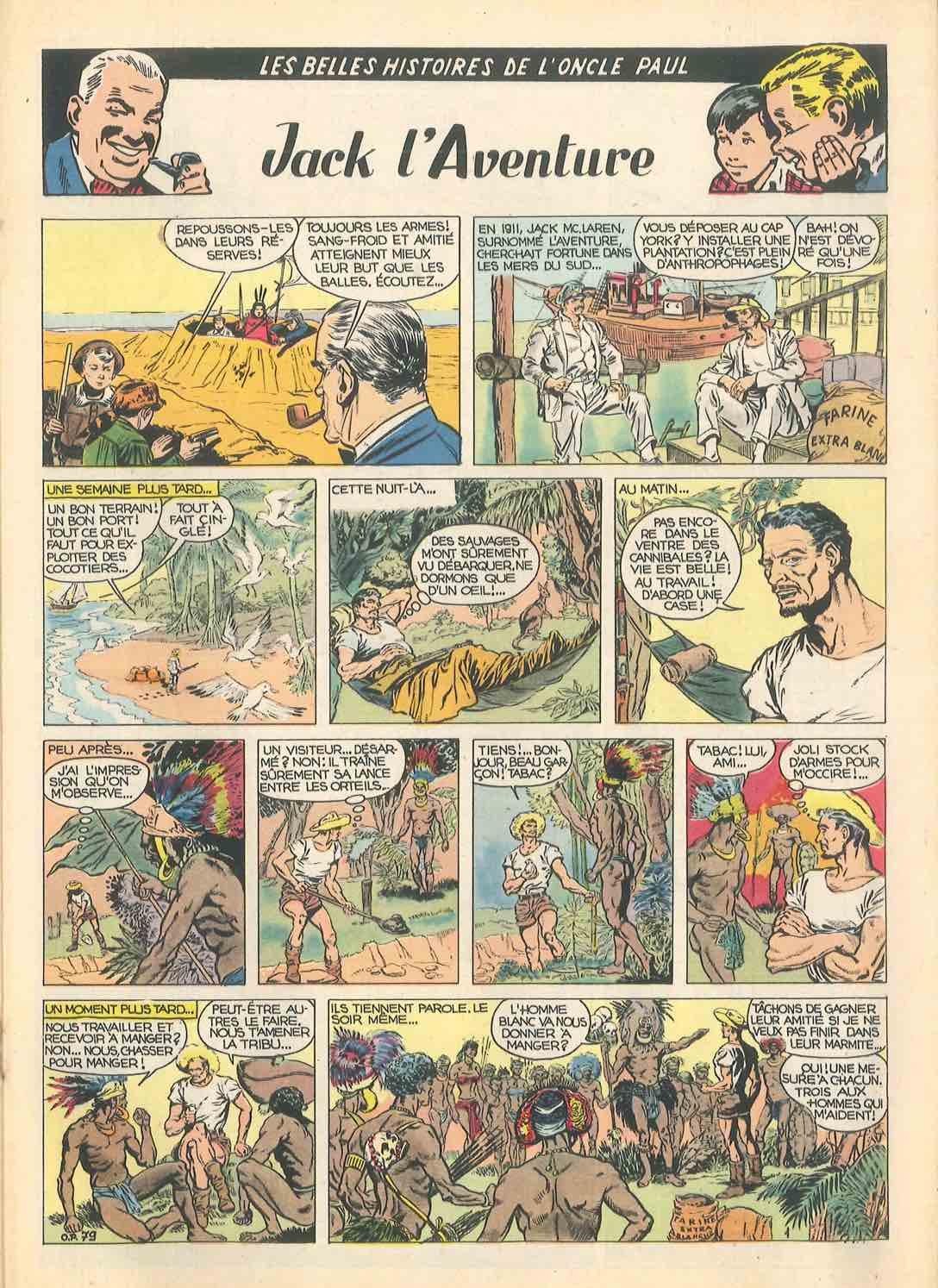 Un « Oncle Paul » imagé par Carlos Laffond, scénario d'Octave Joly, dans le n° 960 (6 septembre 1956) de Spirou.