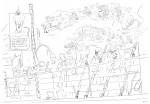 Crayonnés projet Jacques Damour