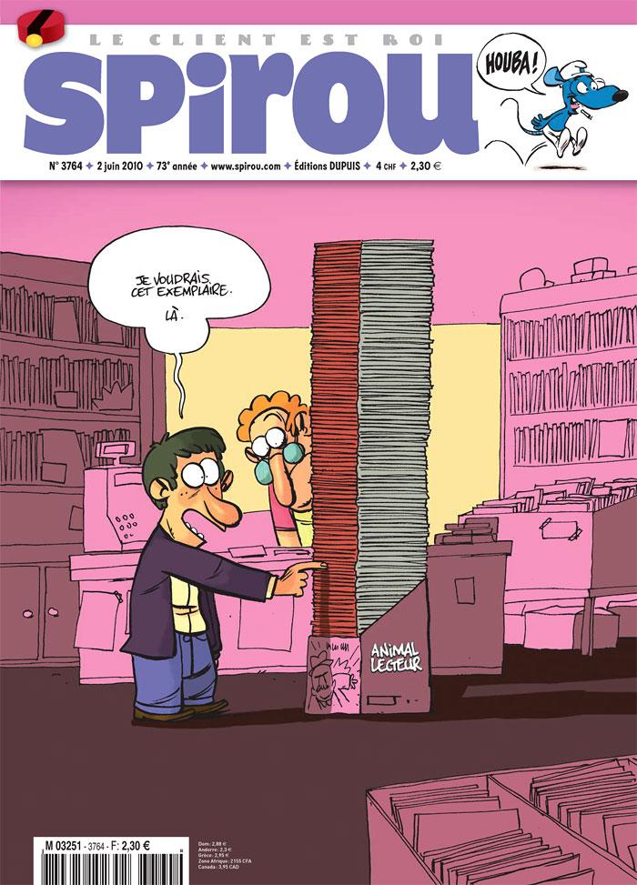 En une de Spirou n°3764 (2 juin 2010)