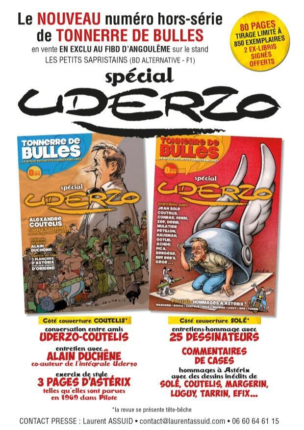 Publicité pour le HS sur Uderzo (février 2014)