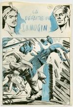 Un original de R. Marcello pour « Le Cavalier inconnu ».