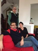 """Cécile Richard et Sylvain Dorange devant Sanseverino """"Papillon"""""""