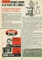 """Page d'annonce pour """"La Flûte de l'oubli"""", parue dans Spirou n° 1201 (20 avril 1961)"""