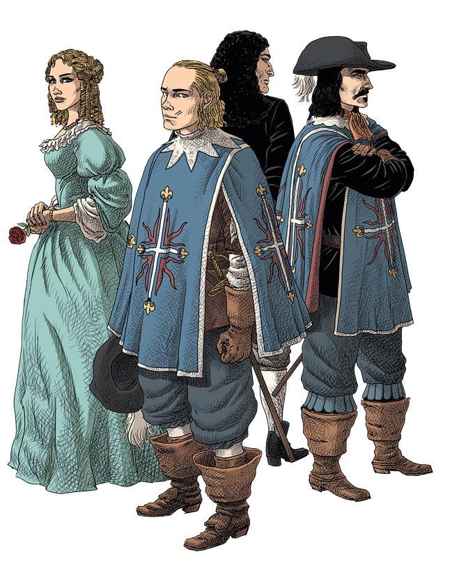 Les 4 personnages principaux donneront leurs noms aux 4 ouvrages prévus.