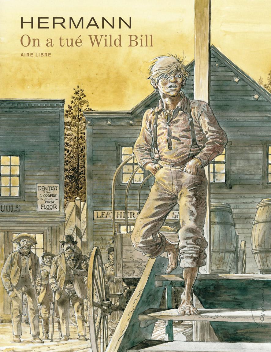 """Couverture pour """"On a tué Wild Bill"""" (Dupuis, 1999)"""