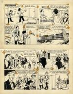 une planche originale des « Bolides d'argent ».