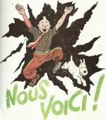 Dessin de couverture pour Le Petit Vingtième du 15 avril 1937.