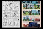 « L'Île noire » page 25 : comparaison entre la version de 1938 et celle de 1965.