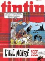 Couverture de Tintin, version française, pour la publication de la nouvelle version de « L'Île noire », en 1965.