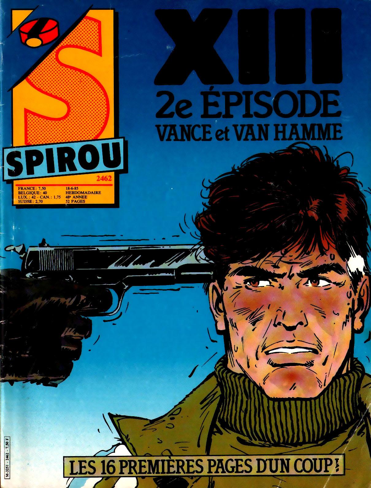 """Une couverture """"adulte"""" pour Spirou n°2462 le 18 juin 1985"""