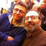 Gilles Ratier et Jean-Christophe Ogier toujours côte à côte, à l'assemblée général de l'ACBD le samedi 19 mars 2016.