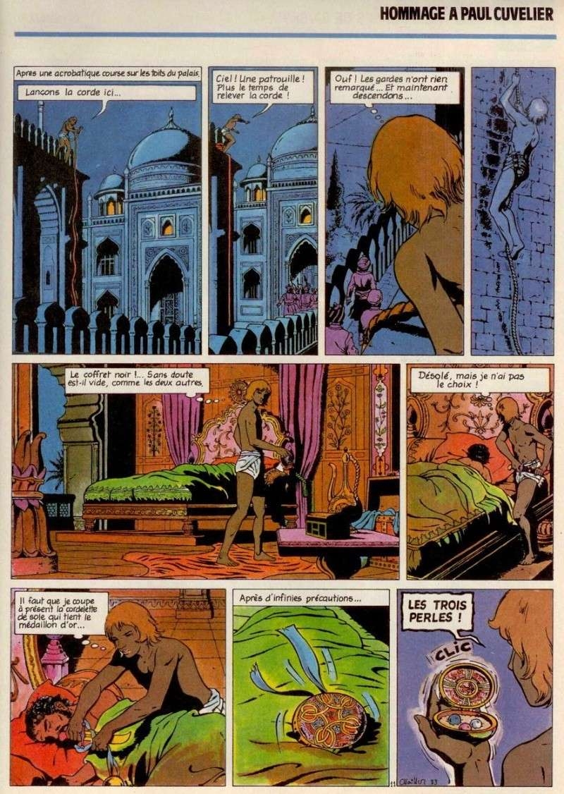 La page des « Trois perles de Sa–Skyia » dessinée par Gilles Chaillet.