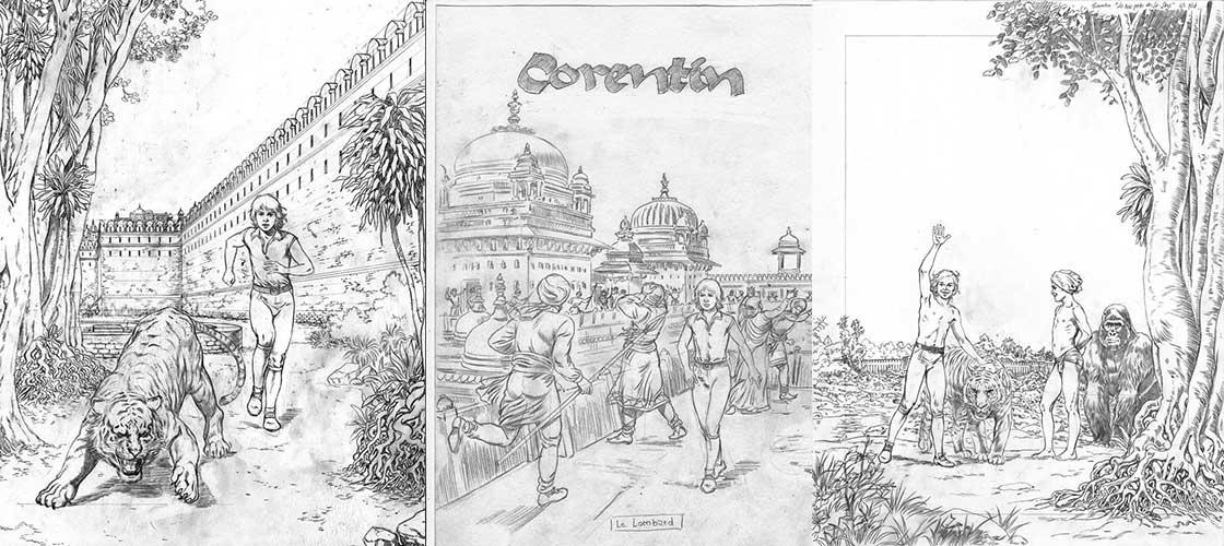 Essais pour « Corentin » par Christophe Simon.