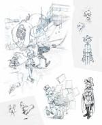 Extraits du Sketchbook Comix Buro de Yoann (février 2015)