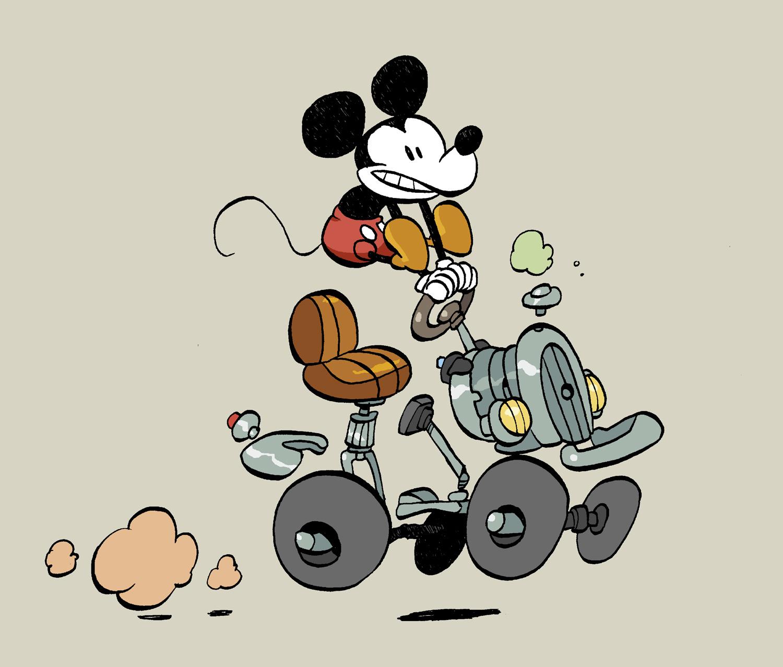 « Mickey » vu par Tebo.